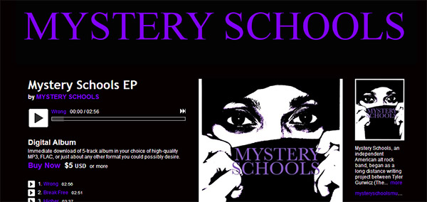 Mystery Schools EP now live