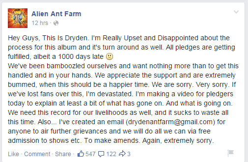 Alien Ant Farm Facebook